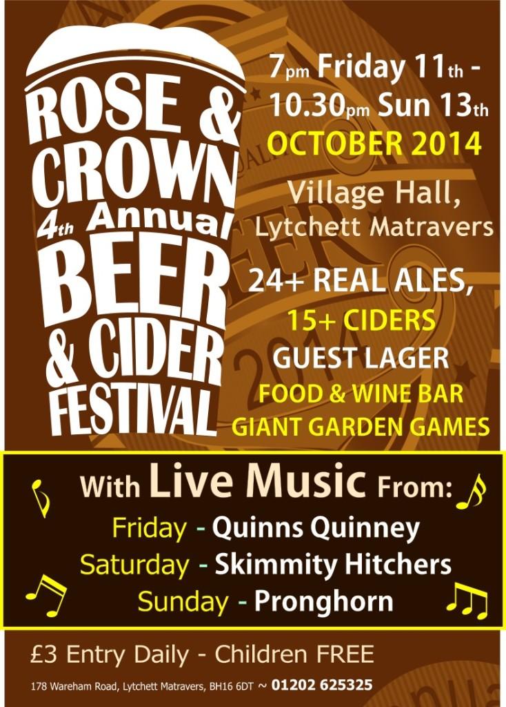 Rose & Crown, Lytchett, Beer & Cider Festival