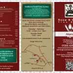 Rose & Crown Menu April 2014 Front