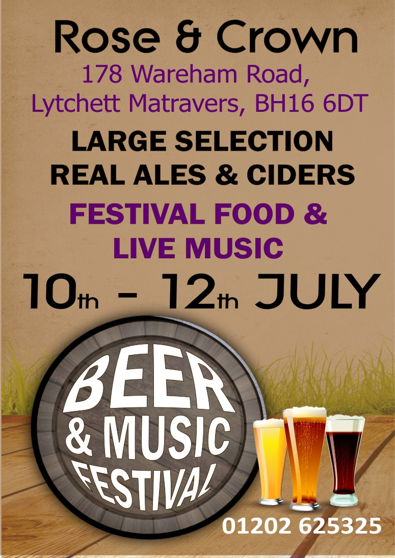 Rose & Crown Beer Fest with LIVE Music - 10th to 12th July 2015