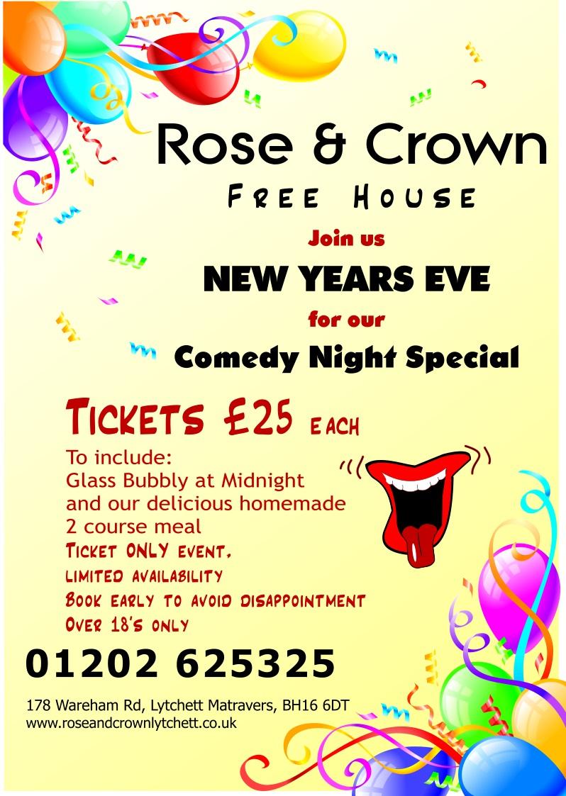 Comedy Night Special - Rose & Crown, Lytchett