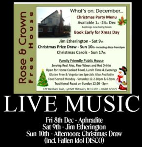 Live Music Dec 17 - Rose and Crown