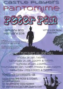 Peter Pan - Tickets From Rose & Crown Lytchett