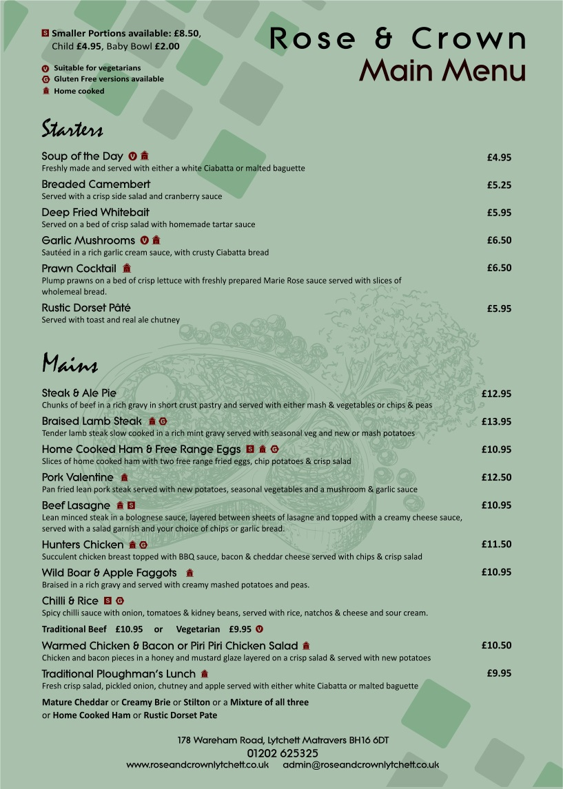 Click To View Menus Page
