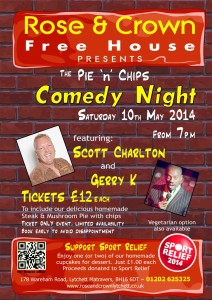 Comedy Night 2014 at The Rose & Crown Lytchett