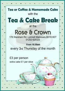 Tea and Cake Break - Rose & Crown,Lytchett