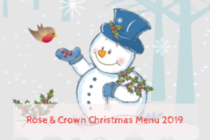 Bookings for Christmas Menu