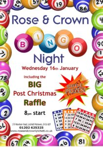 Bingo Night, Rose & Crown, Lytchett