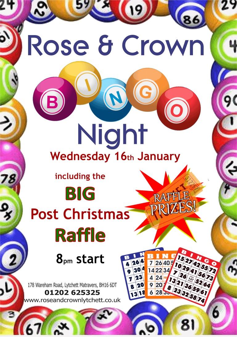 Bingo Night, Rose & Crown, Lytchett