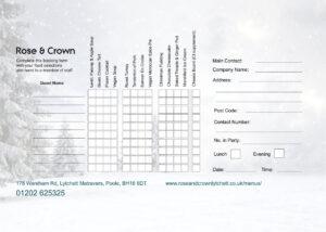 Festive Order Form 2021