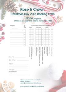 Xmas Day Order Form 2021