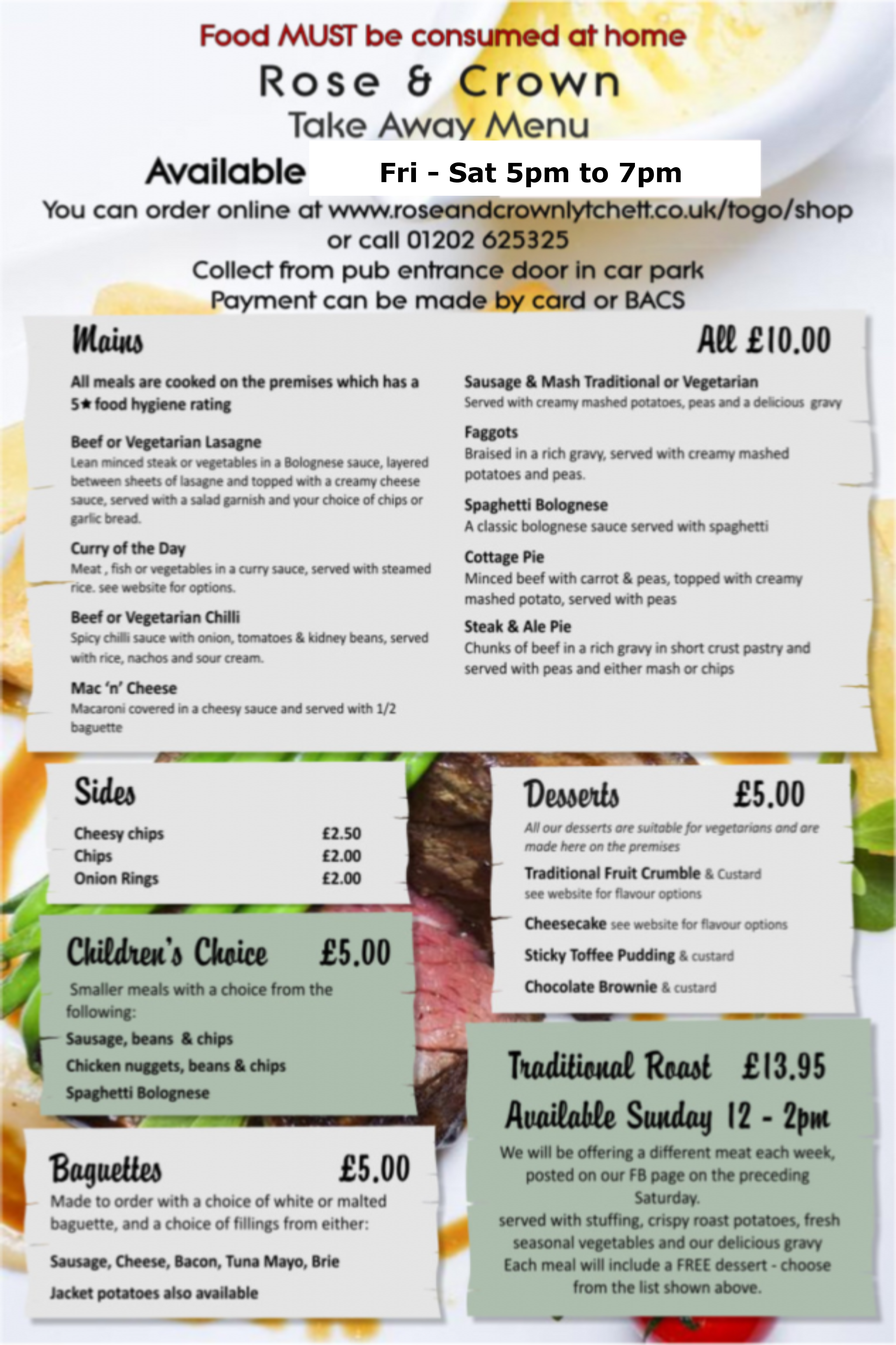 Takeaway Menu Jan 2021